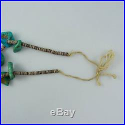 Vintage Jacla Necklace with Turquoise, Red Coral and Heishi Beads