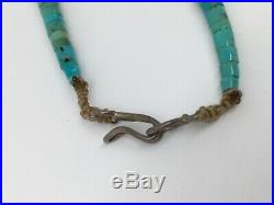 Vintage Native American Turquoise bead necklace HEISHI