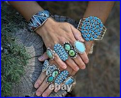 Vintage Navajo Jacla Turquoise Heishi Necklace Hand Made South West Jewelry