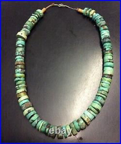 Vintage Navajo Turquoise Heishi Beaded Necklace 18