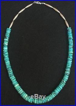 Vintage Pawn Rolled Turquoise Heishi Bead Pueblo Necklace