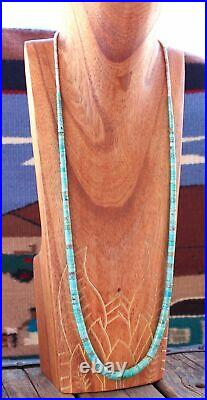 Vintage Santo Domingo Necklace with Coconut Shell Heishi and Turquoise Disc Bead