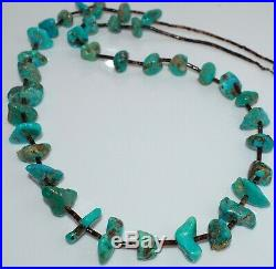 Vintage Southwestern Turquoise Nugget Heishi Necklace Pawn Approx. 30 Inches