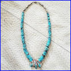Vintage Turquoise and Spiny Oyster Corn Heishi Necklace